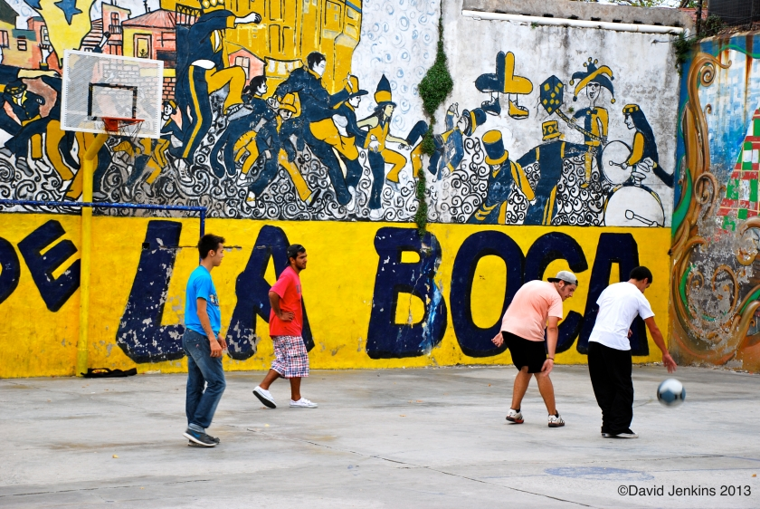Basketball Game in La Boca