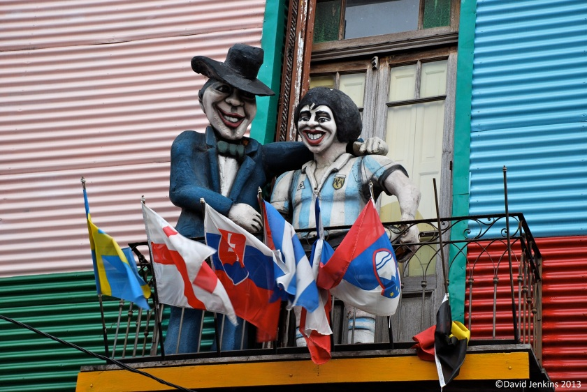 Puppet of Maradona in La Boca