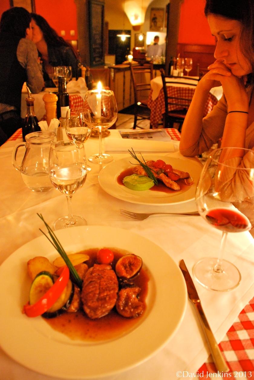 Dinner at Spajza