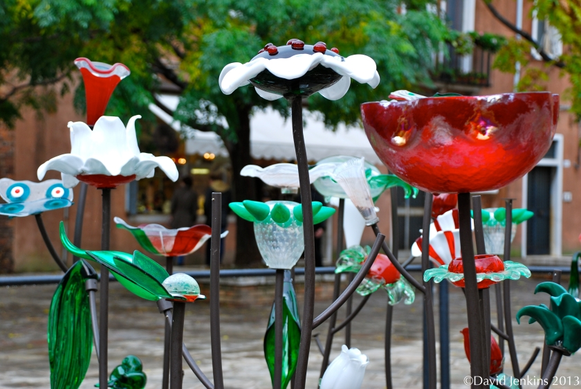 Glass Flowers on Murano Island
