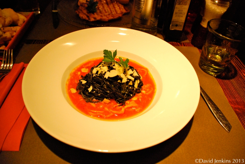 Squid Ink Pasta at Impronta Caffe