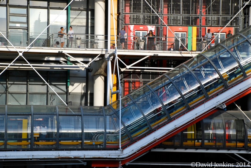 Centre Pompidou in Paris was deigned by multiple architects in postmodern, brutalist and high-tech architectural styles.