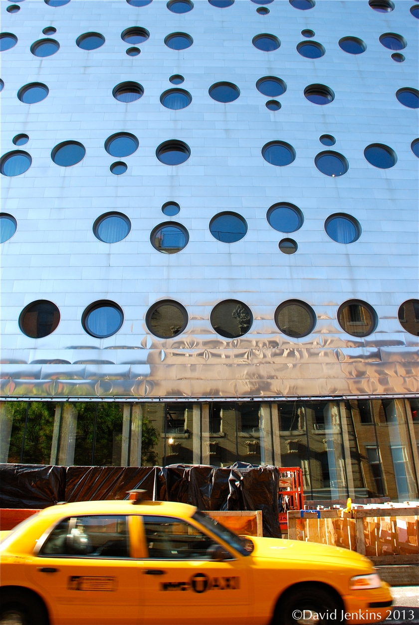 Dream Downtown Hotel in New York City has a high-tech flair and punched-window design.