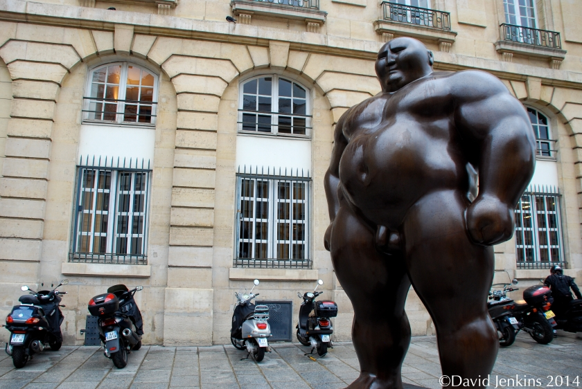 """Mongolian"" statue by Chinese sculptor Shen Hong-Biao in Paris near the Pantheon."
