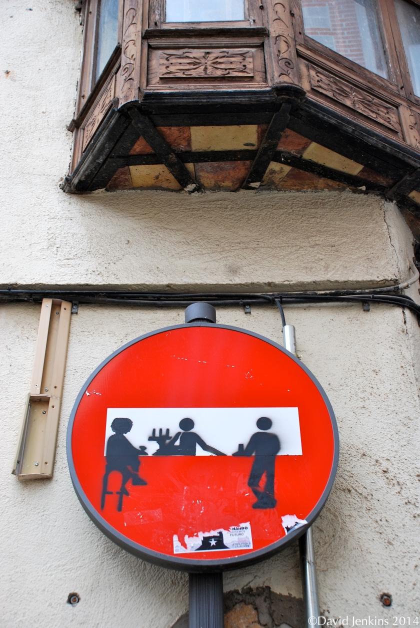 Street sign in Toledo, Spain