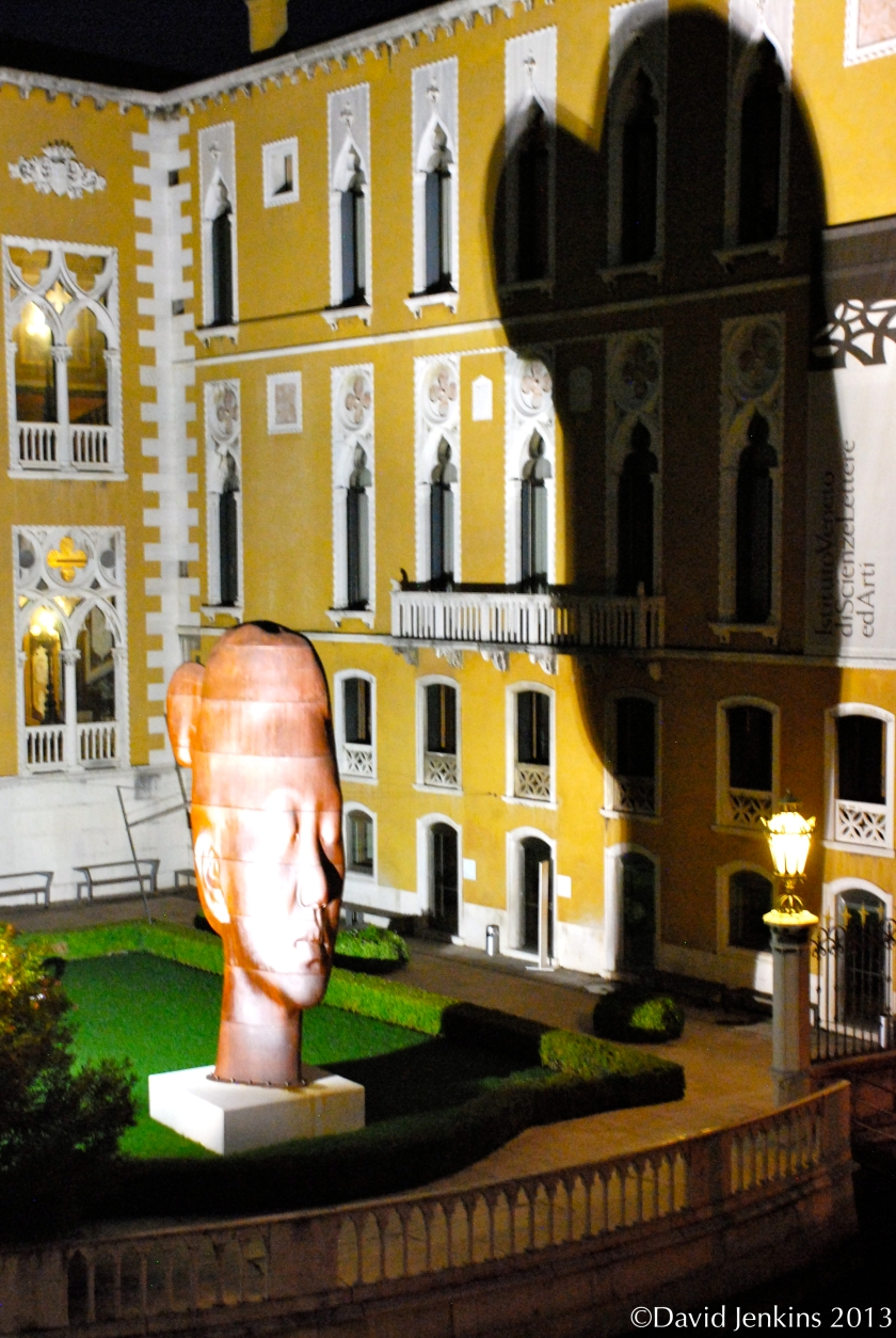 Rui Rui, a seven meter sculpture by Jaume Plensa, at the crossroads of Accademia and San Marco in Venice